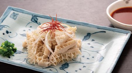 韓国風酢味噌で頂くハチノス