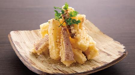 さつま芋のスティック天ぷらハニーソース